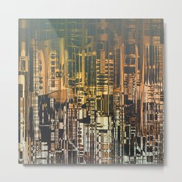 Density / Urban Metal Print