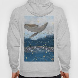 Flying Seal - Rising Waters Surreal Climate Change  Hoody