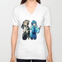 dmmd V-neck T-shirts featuring DmmD Bromance  by lilbutt