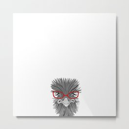Wise Ostrich Metal Print