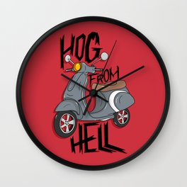 Hog From Hell Wall Clock