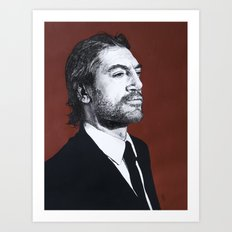 Portrait of Javier Bardem Art Print