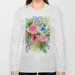 Watercolor Floral Bouquet No. 1 Long Sleeve T-shirt