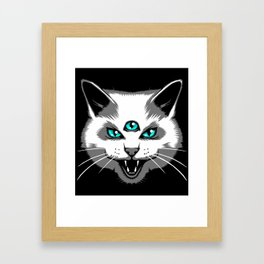 Third Eye Meow Framed Art Print