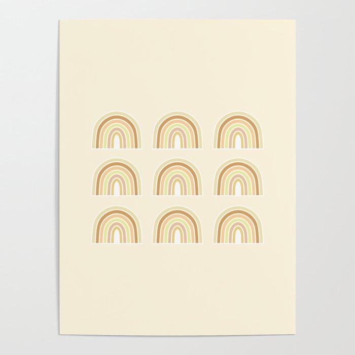 Neutral Rainbows Poster