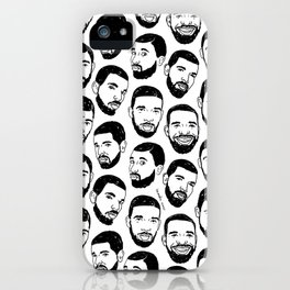 the many faces of Drake iPhone Case