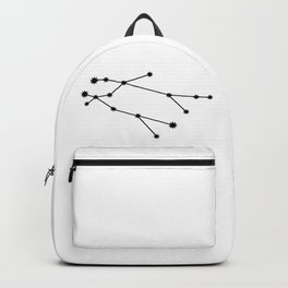 Gemini Star Sign Black & White Backpack