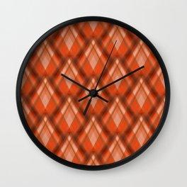 Zig Zag Pattern orange no. 2  Wall Clock