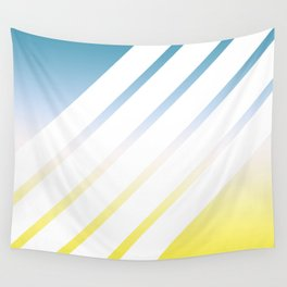Gradient White Stripes Wall Tapestry
