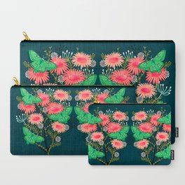 Luna Moth Florals by Andrea Lauren  Carry-All Pouch