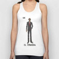 "obama Tank Tops featuring EL OBAMA by ""dfrnt"""