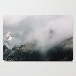 Mountain Range in the Clouds - Landscape Photography Cutting Board
