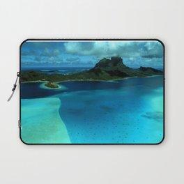 Bora Bora Lagoon Aerial Laptop Sleeve