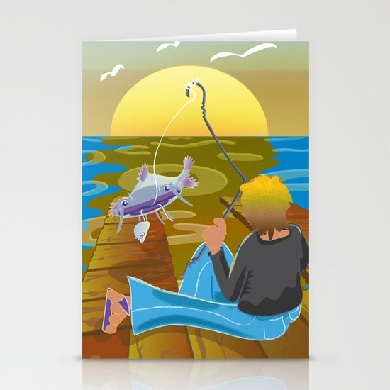 Fish Tales Stationery Cards