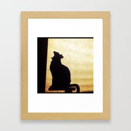 Birdie Yawns Framed Art Print