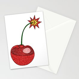 Glitter Cherry Bomb Stationery Cards
