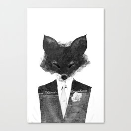 minima - dapper fox | noir Canvas Print
