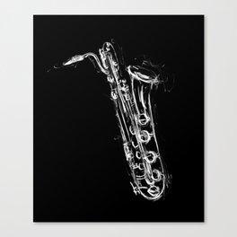 Baritone Saxophone Canvas Print
