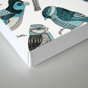 pale green birds Canvas Print