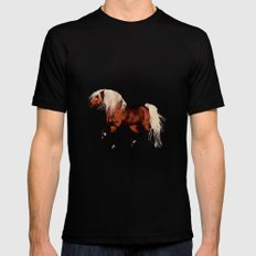 HORSE - Black Forest Mens Fitted Tee MEDIUM Black