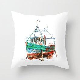 Desert boat Throw Pillow