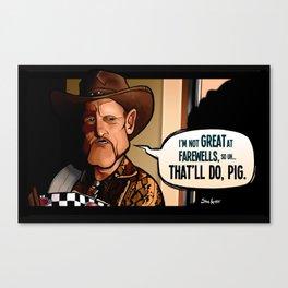 That'll Do Pig Canvas Print