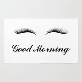 Good Morning Lashes Rug