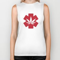 marijuana Biker Tanks featuring Medical Marijuana by WeedPornDaily