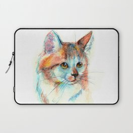 Bicolor cat portrait Laptop Sleeve