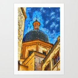 Church in Burriana Art Print