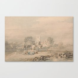 J.M.W. Turner - Autumn Sowing of the Grain - circa 1794 Canvas Print