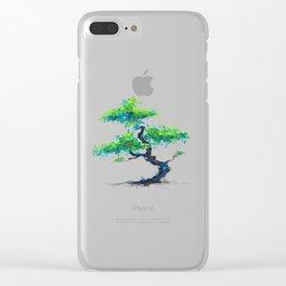Blue Bonsai Clear iPhone Case