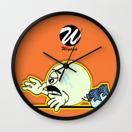 Exhausted Runner Comic Character Wall Clock