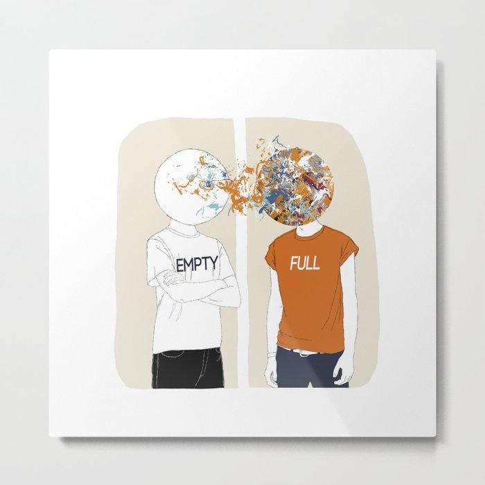 EMPTY-FULL Metal Print