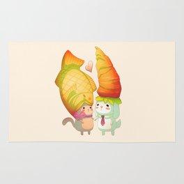 Taiyaki and carrots in love Rug