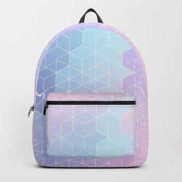 Geometric pastel vibes pattern 1 #pattern #decor #abstractart Backpack