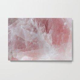 Rose Quartz Metal Print