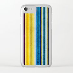 Colorful Stripes of Texture Clear iPhone Case