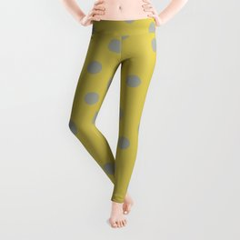 Simply Dots Retro Gray on Mod Yellow Leggings