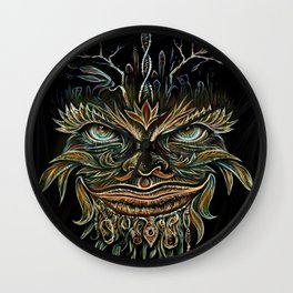 Forest Elemental Color Wall Clock