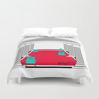 popart Duvet Covers featuring Perspective Chairs and Columns POPART  by Gabriel J Galvan