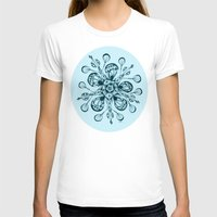 snowflake T-shirts featuring Snowflake by Laura Maxwell
