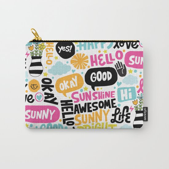 Sunshine & happiness Carry-All Pouch