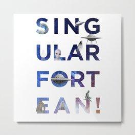 The Universe of Singular Fortean Metal Print
