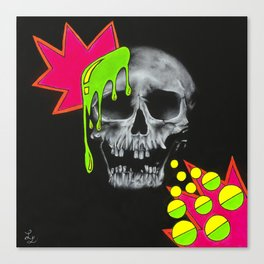 Skull Splash Canvas Print