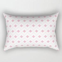 Geometric RoseQuartz  Rectangular Pillow