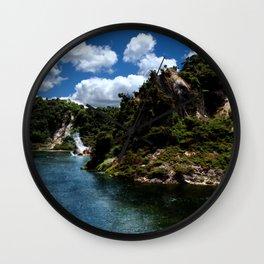 Frying Pan Lake, New Zealand Landscape Wall Clock