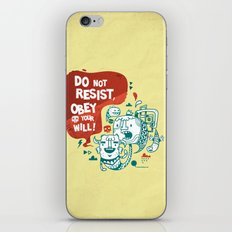 Obey your will iPhone & iPod Skin