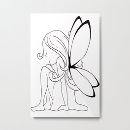 Fairy Thoughts Metal Print