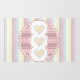 Cute heart Rug